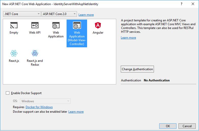 Using ASP NET Core Identity — IdentityServer4 1 0 0